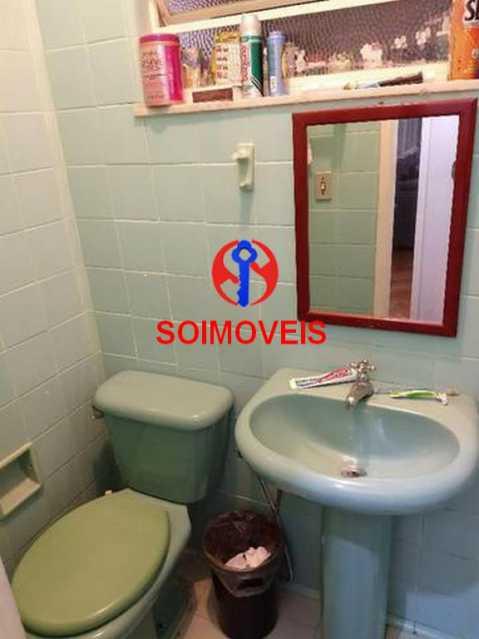 Banheiro dependência - Apartamento 4 quartos à venda Rio Comprido, Rio de Janeiro - R$ 630.000 - TJAP40035 - 20