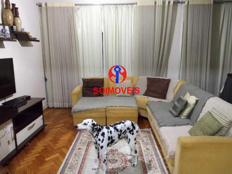 Sala - Apartamento 4 quartos à venda Rio Comprido, Rio de Janeiro - R$ 630.000 - TJAP40035 - 1