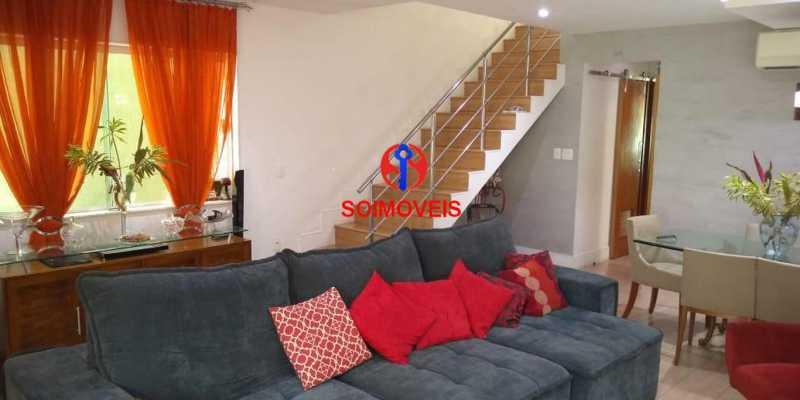 Sala - Casa 4 quartos à venda Grajaú, Rio de Janeiro - R$ 1.265.000 - TJCA40032 - 1