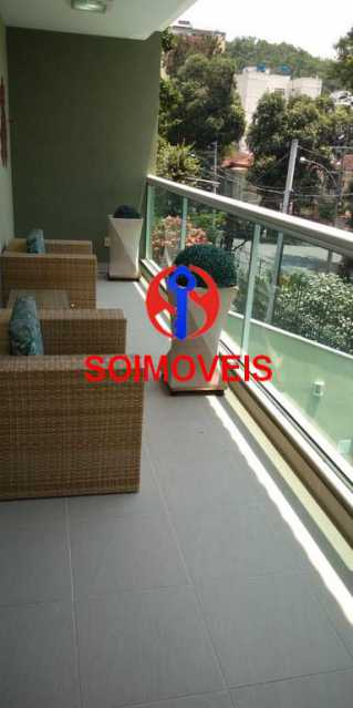 Varanda da suíte 1 - Casa 4 quartos à venda Grajaú, Rio de Janeiro - R$ 1.265.000 - TJCA40032 - 8