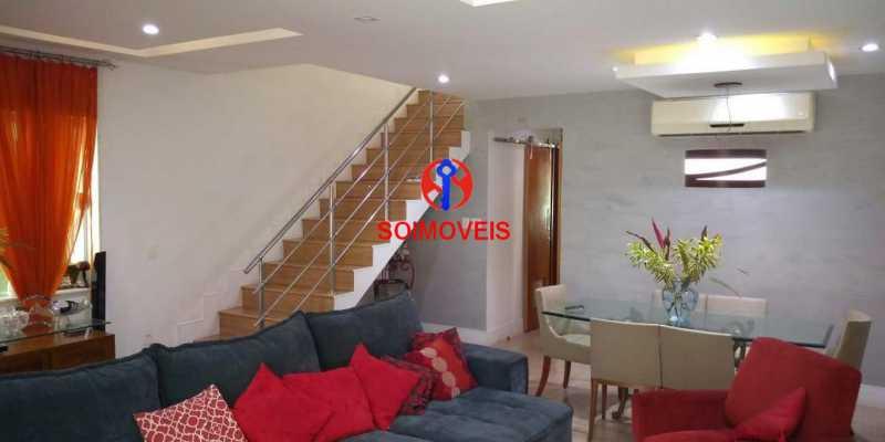 Sala - Casa 4 quartos à venda Grajaú, Rio de Janeiro - R$ 1.265.000 - TJCA40032 - 3