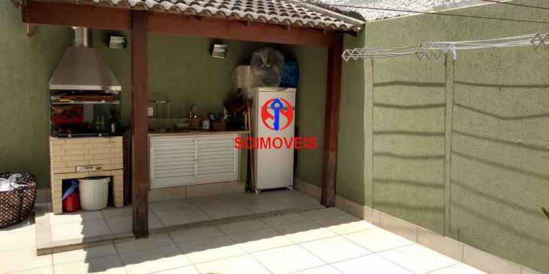 Área gourmet - Casa 4 quartos à venda Grajaú, Rio de Janeiro - R$ 1.265.000 - TJCA40032 - 27