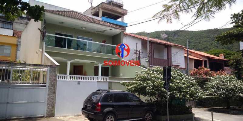 Fachada - Casa 4 quartos à venda Grajaú, Rio de Janeiro - R$ 1.265.000 - TJCA40032 - 31