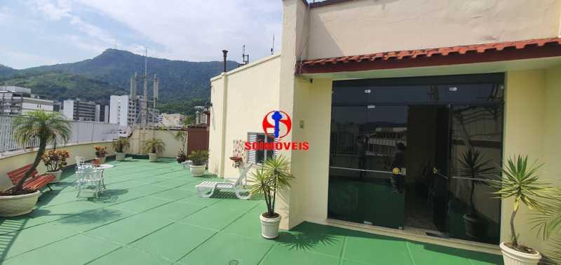 ÁREA EXTERNA DO PRÉDIO - Apartamento 1 quarto à venda Tijuca, Rio de Janeiro - R$ 430.000 - TJAP10260 - 24