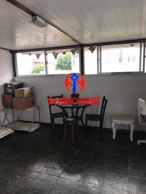 Parte coberta do terraço - Casa em Condomínio 4 quartos à venda Maracanã, Rio de Janeiro - R$ 900.000 - TJCN40006 - 22