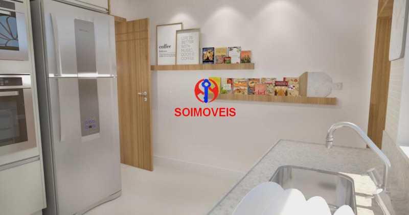 Cozinha - Casa de Vila 5 quartos à venda Tijuca, Rio de Janeiro - R$ 1.150.000 - TJCV50003 - 10