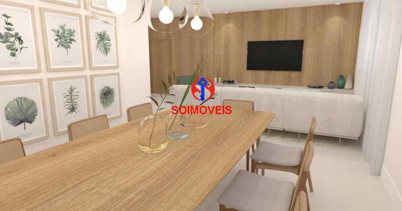 Sala Jantar - Casa de Vila 5 quartos à venda Tijuca, Rio de Janeiro - R$ 1.150.000 - TJCV50003 - 8