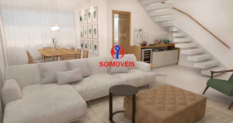 Sala - Casa de Vila 5 quartos à venda Tijuca, Rio de Janeiro - R$ 1.150.000 - TJCV50003 - 5
