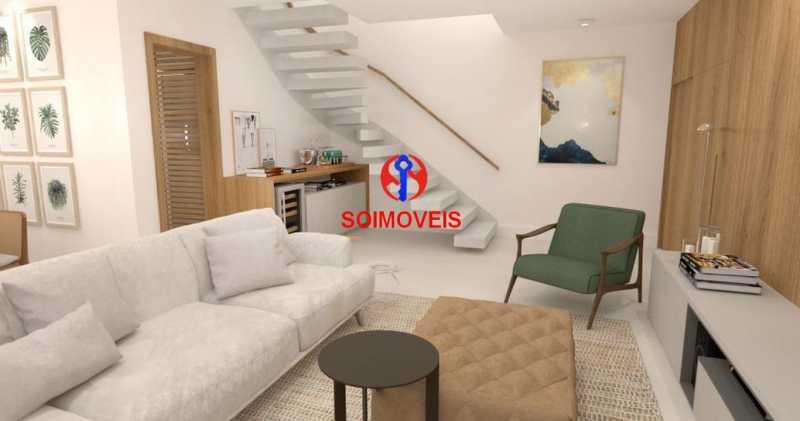 Sala - Casa de Vila 5 quartos à venda Tijuca, Rio de Janeiro - R$ 1.150.000 - TJCV50003 - 6