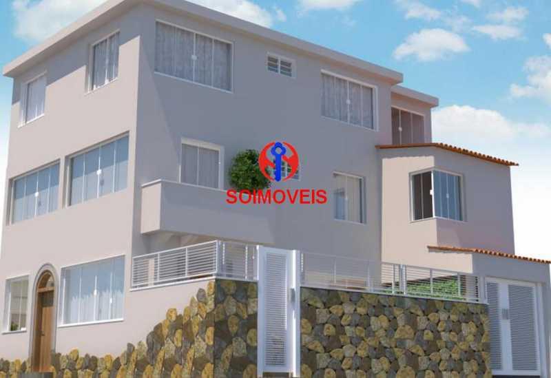 Fachada Diagonal - Casa de Vila 5 quartos à venda Tijuca, Rio de Janeiro - R$ 1.150.000 - TJCV50003 - 4