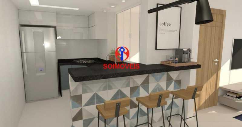 Cozinha Americana - Casa de Vila 5 quartos à venda Tijuca, Rio de Janeiro - R$ 1.150.000 - TJCV50003 - 18