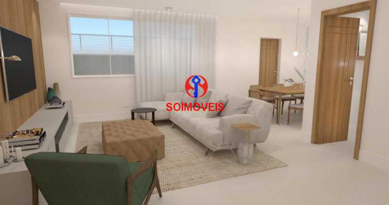 Sala Estar - Casa de Vila 5 quartos à venda Tijuca, Rio de Janeiro - R$ 1.150.000 - TJCV50003 - 7
