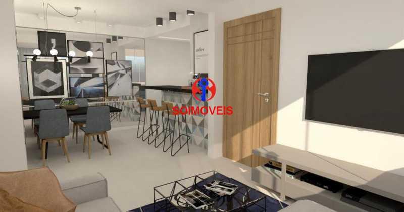Sala/Cozinha Americana - Casa de Vila 5 quartos à venda Tijuca, Rio de Janeiro - R$ 1.150.000 - TJCV50003 - 19
