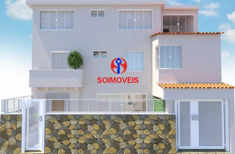 Fachada Frontal - Casa de Vila 5 quartos à venda Tijuca, Rio de Janeiro - R$ 1.150.000 - TJCV50003 - 1