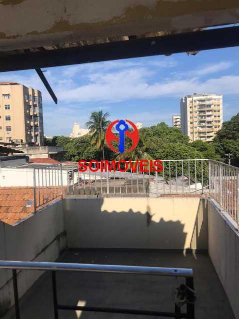 Vista do terraço - Casa de Vila 4 quartos à venda Tijuca, Rio de Janeiro - R$ 850.000 - TJCV40016 - 29