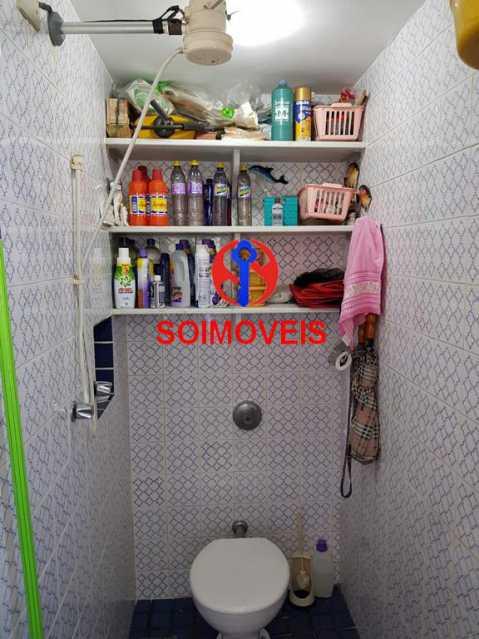 Banheiro de empregado 2. - Apartamento 3 quartos à venda Laranjeiras, Rio de Janeiro - R$ 1.000.000 - TJAP30558 - 19