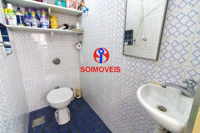 Banheiro de empregado. - Apartamento 3 quartos à venda Laranjeiras, Rio de Janeiro - R$ 1.000.000 - TJAP30558 - 20