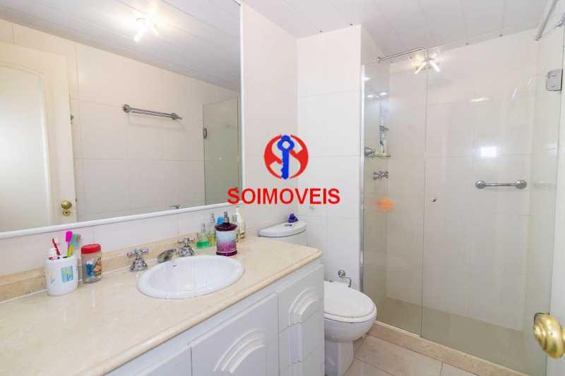 Banheiro. - Apartamento 3 quartos à venda Laranjeiras, Rio de Janeiro - R$ 1.000.000 - TJAP30558 - 18