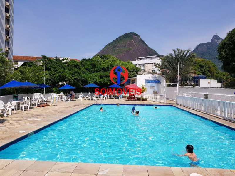 Piscina. - Apartamento 3 quartos à venda Laranjeiras, Rio de Janeiro - R$ 1.000.000 - TJAP30558 - 22