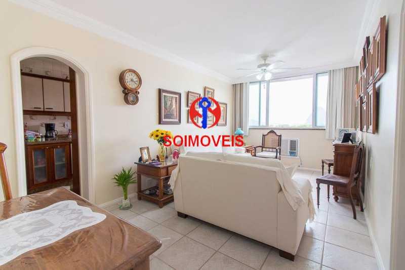 Sala. - Apartamento 3 quartos à venda Laranjeiras, Rio de Janeiro - R$ 1.000.000 - TJAP30558 - 3