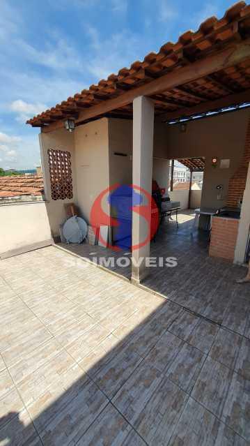 TERRAÇO - Casa de Vila 3 quartos à venda Riachuelo, Rio de Janeiro - R$ 410.000 - TJCV30070 - 23