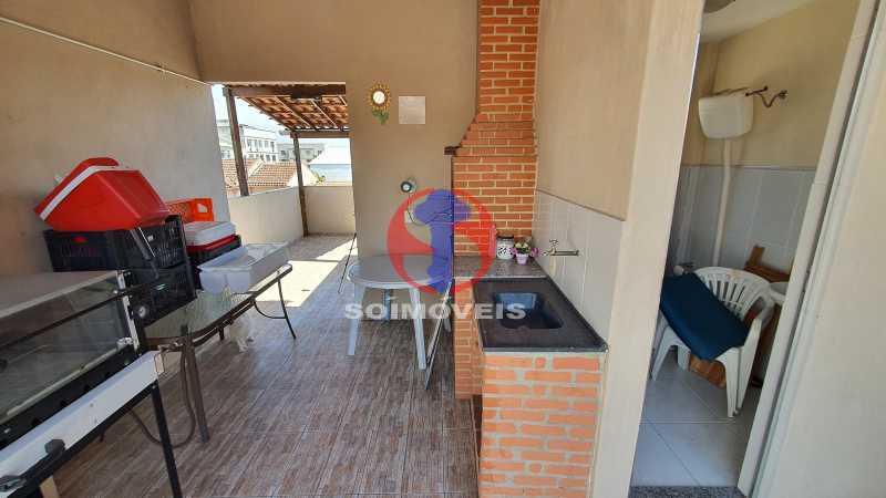 TERRAÇO - Casa de Vila 3 quartos à venda Riachuelo, Rio de Janeiro - R$ 410.000 - TJCV30070 - 21