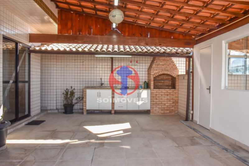 Terraço - Cobertura 3 quartos à venda Tijuca, Rio de Janeiro - R$ 900.000 - TJCO30048 - 26