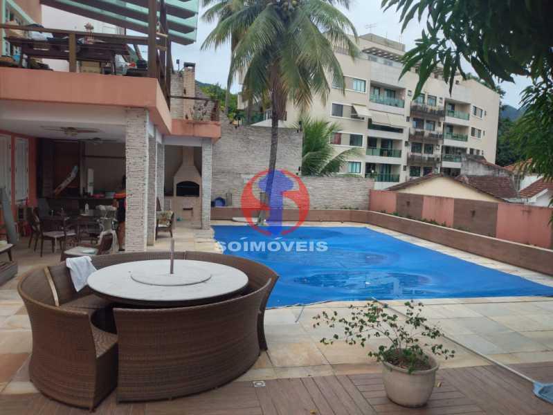 Quintal  - Casa 5 quartos à venda Tijuca, Rio de Janeiro - R$ 2.800.000 - TJCA50020 - 24