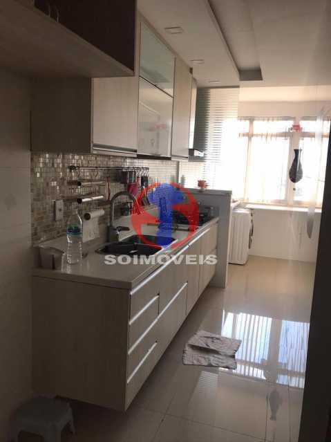 COZINHA E ÁREA - Apartamento 2 quartos à venda Maracanã, Rio de Janeiro - R$ 740.000 - TJAP21414 - 12