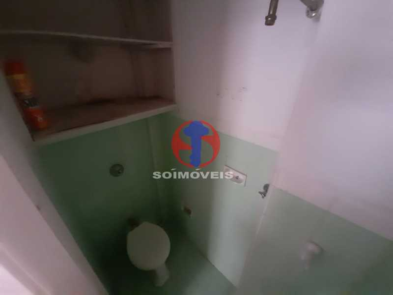 banheiro de serviço - Apartamento 1 quarto à venda Tijuca, Rio de Janeiro - R$ 260.000 - TJAP10316 - 3