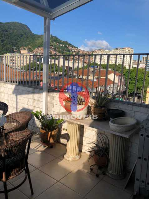 TERRAÇO - Cobertura 3 quartos à venda Rio Comprido, Rio de Janeiro - R$ 400.000 - TJCO30051 - 16