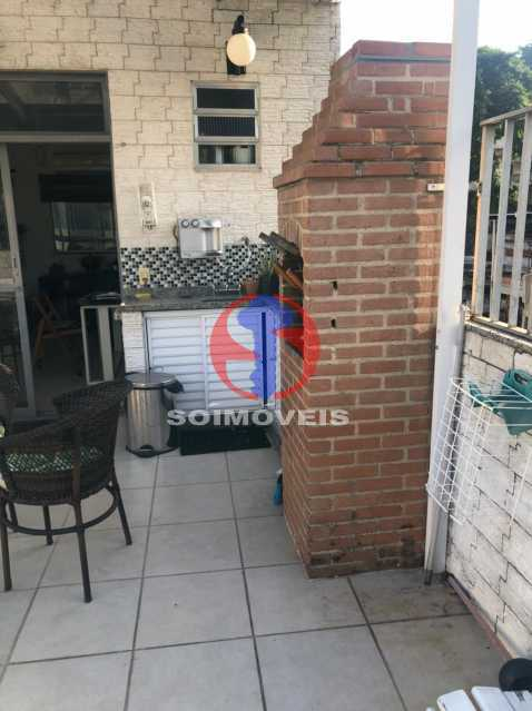 CHURRASQUEIRA - Cobertura 3 quartos à venda Rio Comprido, Rio de Janeiro - R$ 400.000 - TJCO30051 - 21