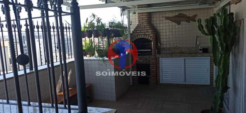 CHURRASQUEIRA - Cobertura 2 quartos à venda Tijuca, Rio de Janeiro - R$ 680.000 - TJCO20030 - 26