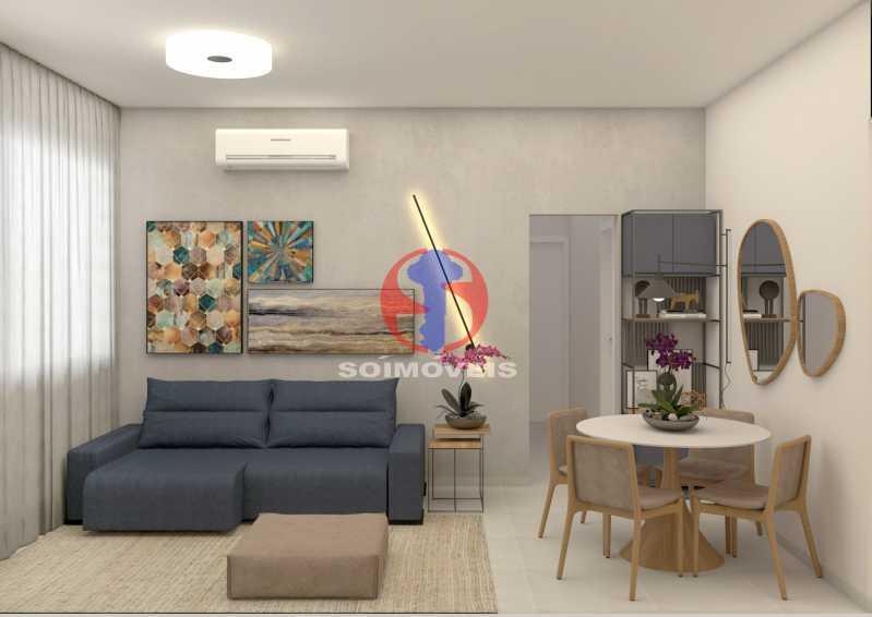 9eae7dd31d7c3902-SALA 01 - Apartamento 2 quartos à venda Copacabana, Rio de Janeiro - R$ 849.000 - TJAP21492 - 3
