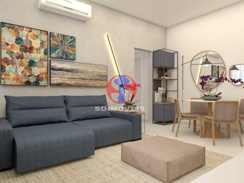 bbb6f985d238e571-SALA 04 - Apartamento 2 quartos à venda Copacabana, Rio de Janeiro - R$ 849.000 - TJAP21492 - 5