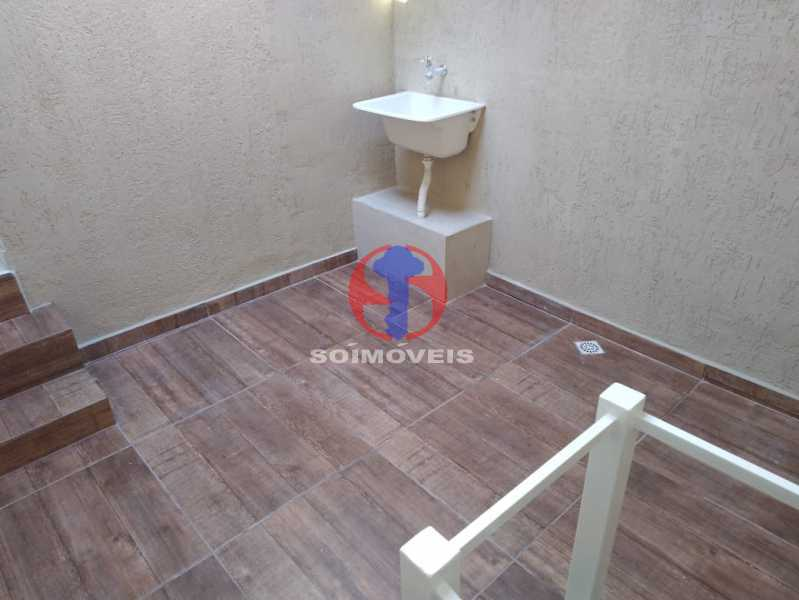 Área - Casa de Vila 3 quartos à venda Benfica, Rio de Janeiro - R$ 290.000 - TJCV30083 - 11