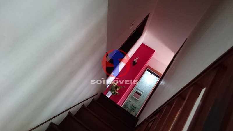 Vista da escada subindo - Casa de Vila 3 quartos à venda Vila Isabel, Rio de Janeiro - R$ 620.000 - TJCV30084 - 6