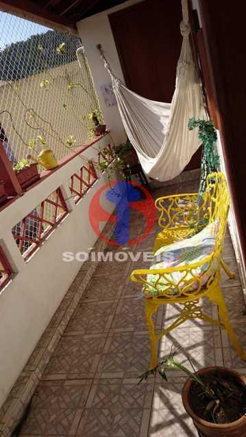 Varanda frente 2ºar - Casa de Vila 3 quartos à venda Vila Isabel, Rio de Janeiro - R$ 620.000 - TJCV30084 - 15