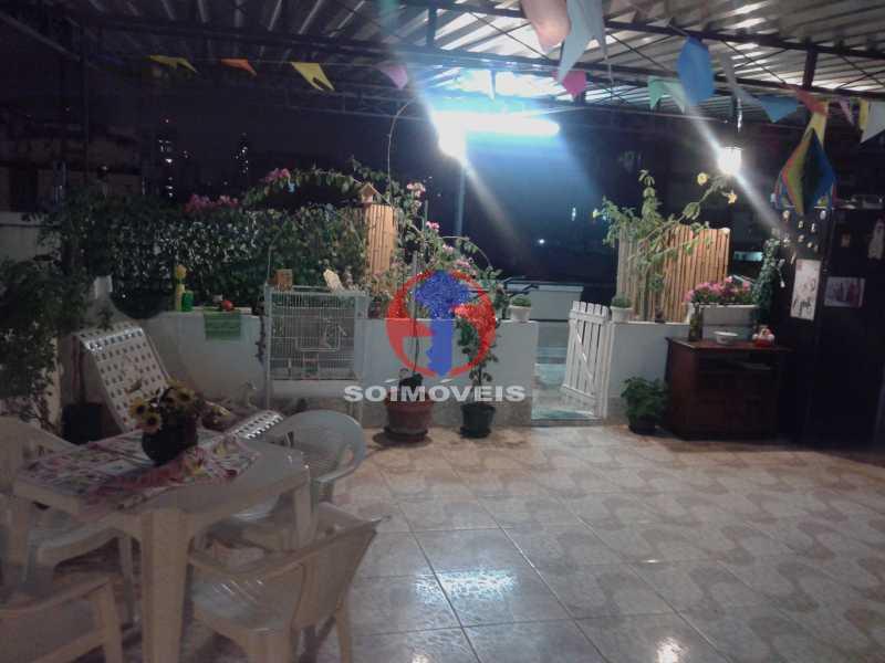 Terraço1 - Casa de Vila 3 quartos à venda Vila Isabel, Rio de Janeiro - R$ 620.000 - TJCV30084 - 3