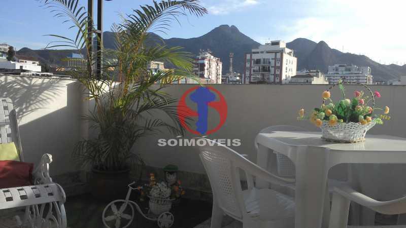 Terraço - Casa de Vila 3 quartos à venda Vila Isabel, Rio de Janeiro - R$ 620.000 - TJCV30084 - 1