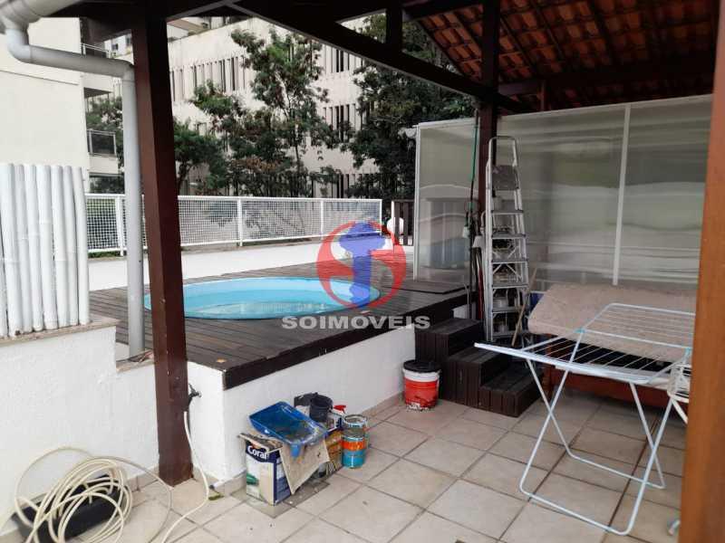 ÁREA EXTERNA - Cobertura 2 quartos à venda Copacabana, Rio de Janeiro - R$ 1.500.000 - TJCO20032 - 4
