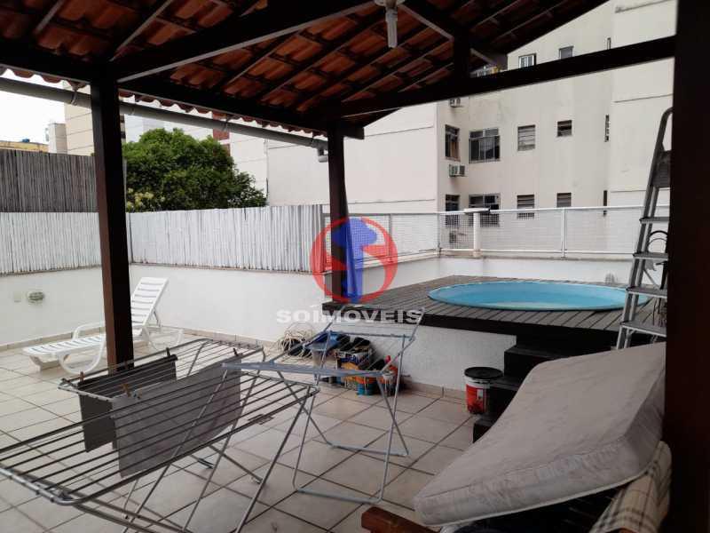 TERRAÇO - Cobertura 2 quartos à venda Copacabana, Rio de Janeiro - R$ 1.500.000 - TJCO20032 - 10