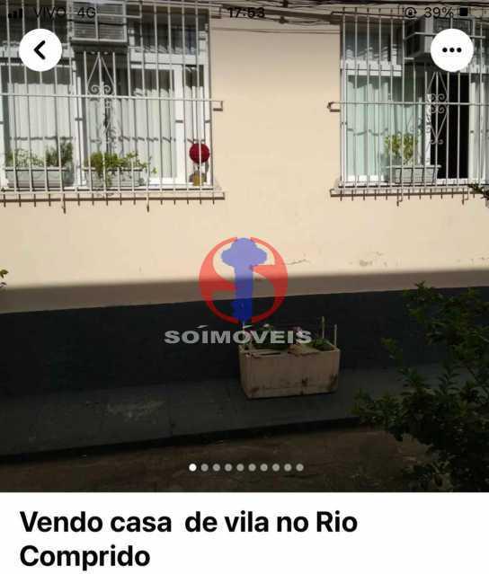 Frontal - Casa de Vila 1 quarto à venda Rio Comprido, Rio de Janeiro - R$ 250.000 - TJCV10018 - 3