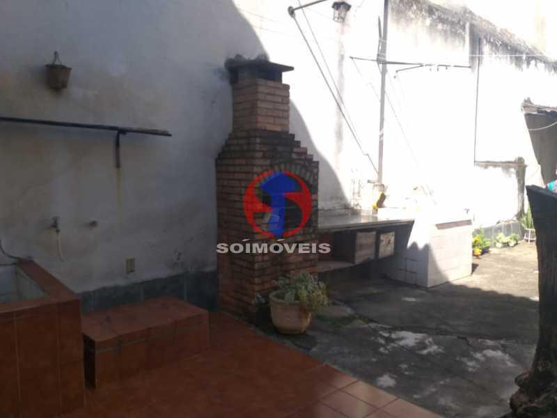 Quintal com churrasqueira - Casa 5 quartos à venda Tijuca, Rio de Janeiro - R$ 1.100.000 - TJCA50022 - 28