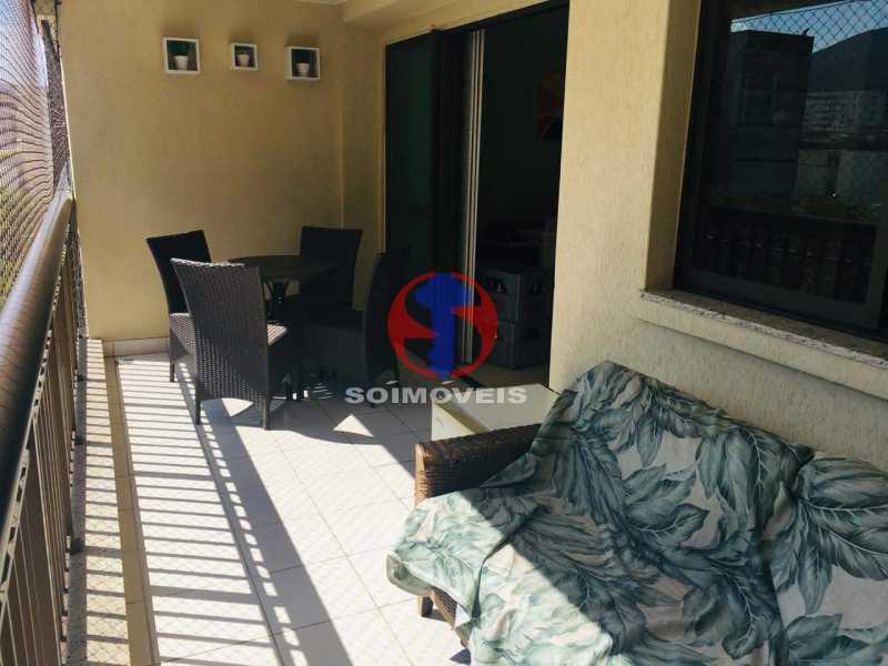 VARANDA  - Apartamento 3 quartos à venda Tijuca, Rio de Janeiro - R$ 1.298.000 - TJAP30785 - 6