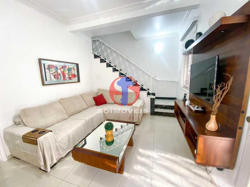 SALA ESTAR - Casa de Vila 3 quartos à venda Tijuca, Rio de Janeiro - R$ 1.300.000 - TJCV30093 - 12