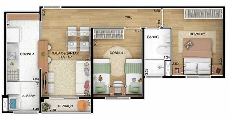 359179152533066 - Apartamento 2 quartos à venda Vila Mogilar, Mogi das Cruzes - R$ 287.000 - BIAP20079 - 5
