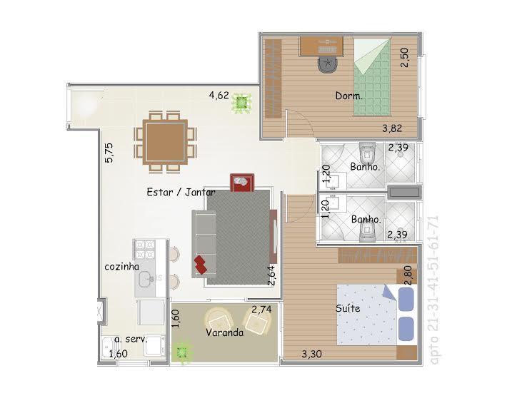 FOTO8 - Apartamento 2 quartos à venda Itatiba,SP - R$ 285.000 - AP0107 - 10