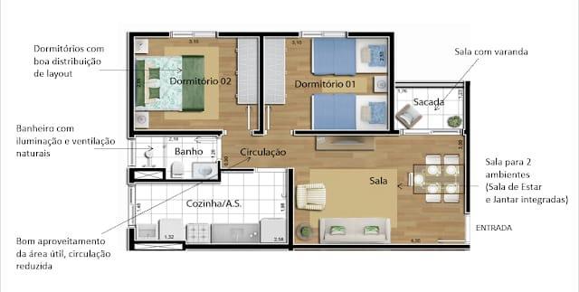 FOTO8 - Apartamento 2 quartos à venda Itatiba,SP - R$ 230.000 - AP1211 - 10