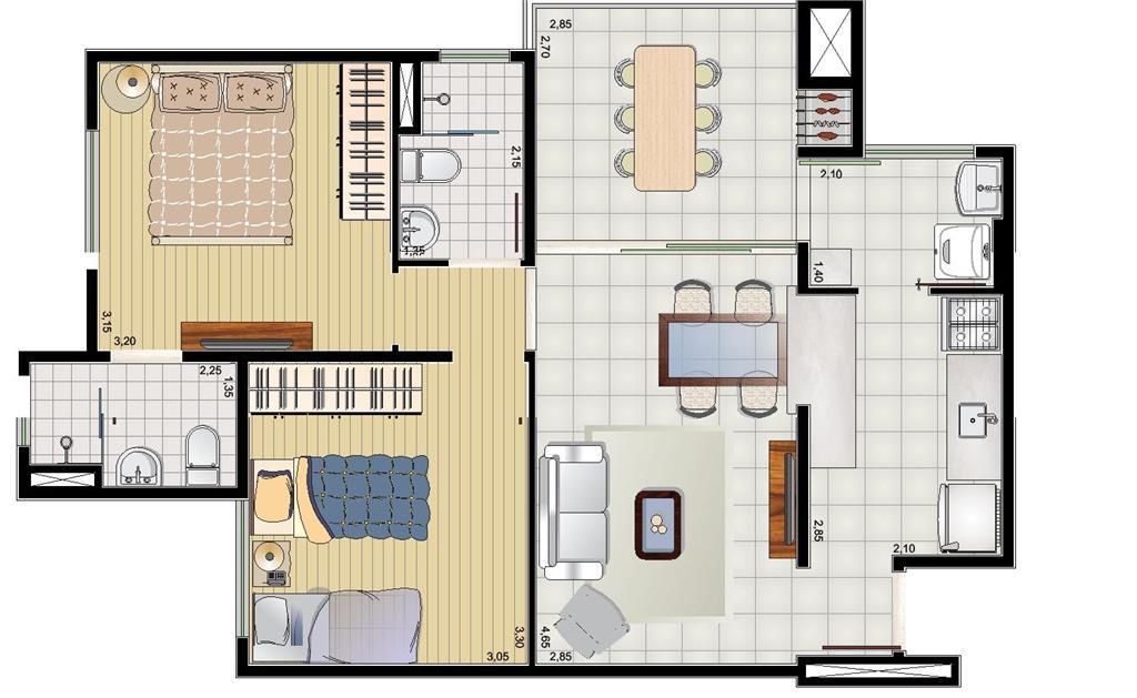 FOTO2 - Apartamento 2 quartos à venda Itatiba,SP - R$ 350.000 - AP0188 - 4